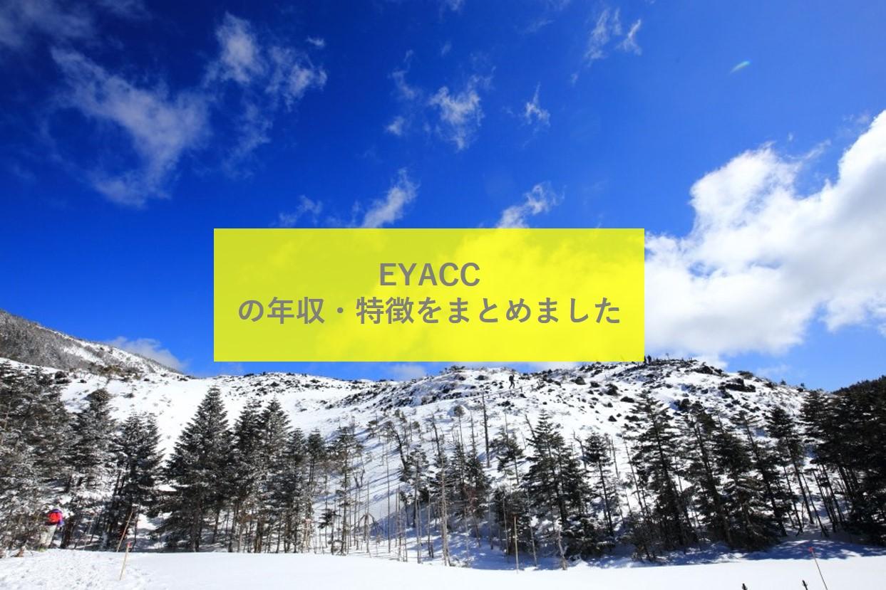 【旧EYアドバイザリー】EYACCの年収や採用・転職情報、激務度、評判を徹底解説